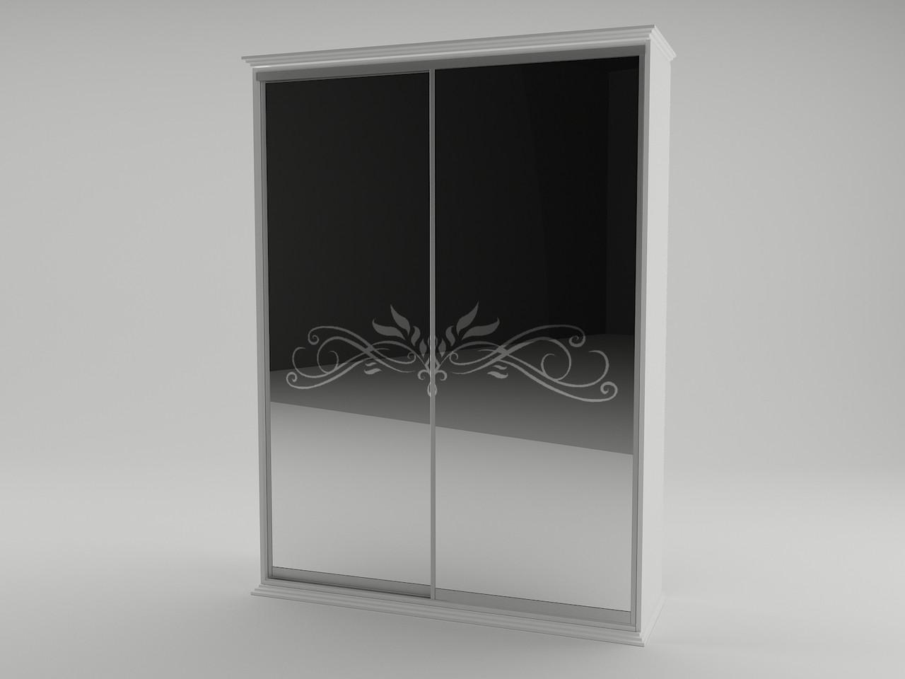 Шкаф 2 дв. Анабель (белый супер мат)