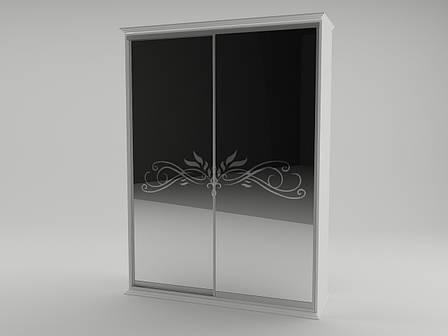 Шкаф 2 дв. Анабель (белый супер мат), фото 2