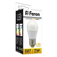 Светодиодная LED лампа Feron  шар LB95 7W