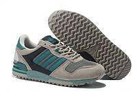 Женские кроссовки Adidas ZX 700 Originals Aqua Grey (адидас, adidas zx, оригинал) серые