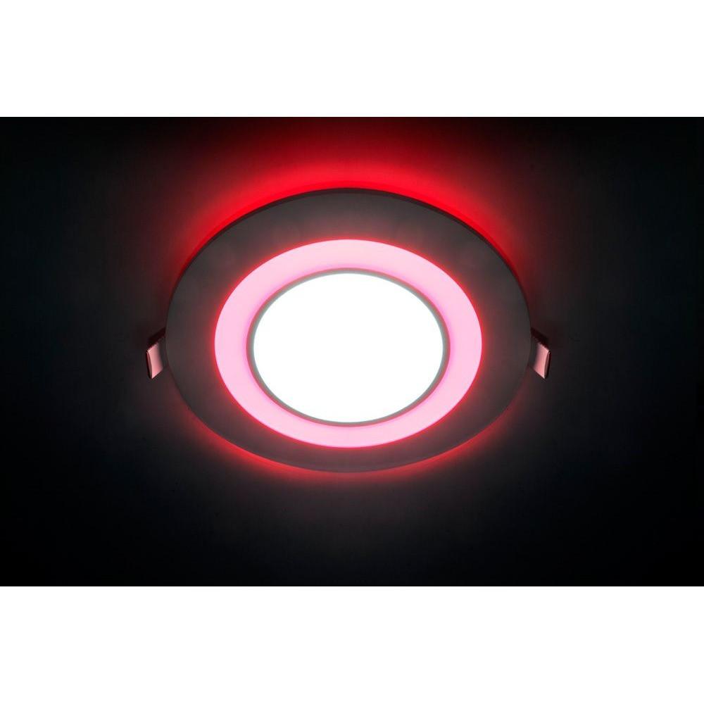 Врезная светодиодная панель Feron  AL2550 16 W с красной подсветкой.