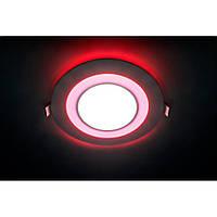 Врезная светодиодная панель Feron  AL2550 16 W с красной подсветкой., фото 1