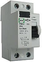 Реле защитного выкл ECO РЗВ-2 2P 25/0,03