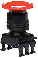 Кнопка-грибок НН55С1 відключення поворотом (40 мм, червоний), ETI, 4770023
