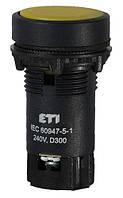 Кнопка натиснена з А+НЗ контактом TN14C2 (жовтий), ETI, 4770067