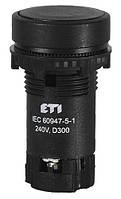 Кнопка натиснена з А+НЗ контактом TN13C2 (чорний), ETI, 4770071