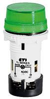 Лампа сигнальная матовая TL02U1 24V AC/DC (зеленая), ETI, 4770228
