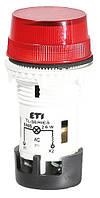 Лампа сигнальная матовая TL01X1 240V AC (красная), ETI, 4770245