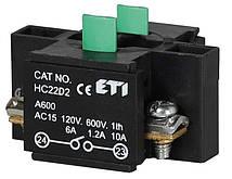 Блок-контакт HС22D2 2НО для корп., ETI, 4770384