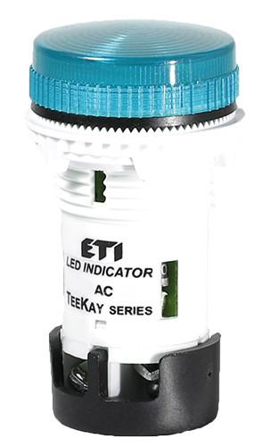 Лампа сигнальная LED матовая TT06X1 240V AC/DC (синяя) 54мм, ETI, 4770764