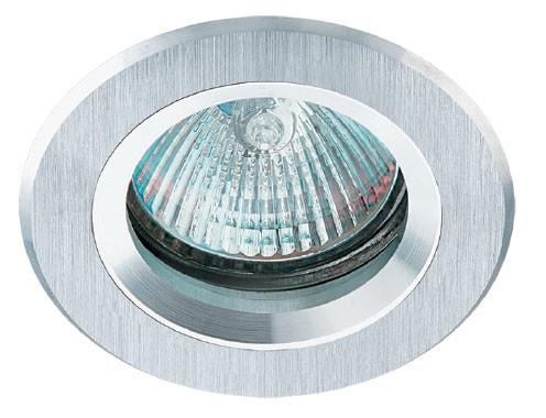 Врізний точковий світильник AS21 алюміній.