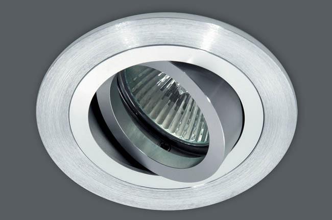 Точечный врезной светильник с поворотом AT 01 алюминий