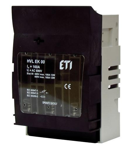 Разъединитель HVL EK 00 160А 3p, ETI, 1701250