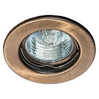 Встраиваемый точечный светильник HS 01 бронза, титан.