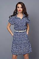 Легкое летнее платье из креп-шифона в мелкий цветочек