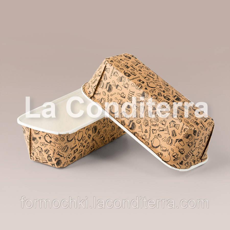 Формы для кексов Plumpy с ламинацией и узором, прямоугольные 158x54x50 мм