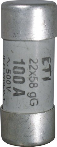 Предохранитель CH 22X58 aM 16A, 690V, ETI, 2641009