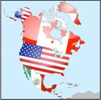 Флаги Северной Америки