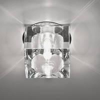 Точеный врезной светильник Feron JD57B стекло