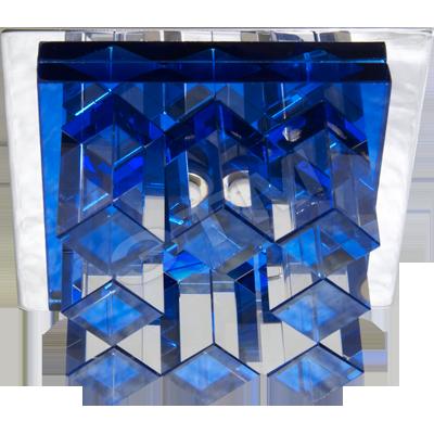 Врезной точечный светильник Feron JD120 стекло, синий.