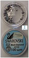 Камни Сваровски SS5 Черный бриллиант 215 100шт.