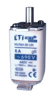 Запобіжник M00UQU-N/6A/690V gR , ETI, 4331201