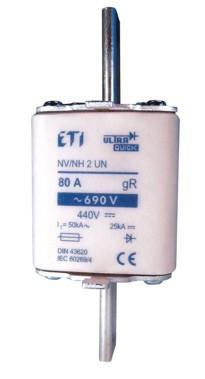 Запобіжник M2UQU-N/355A/690V aR (50kA), ETI, 4334221