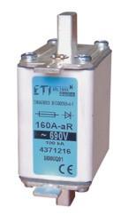 Предохранитель M00UQ01/16A/690V aR (200 kA), ETI, 4371205