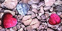 """Салфетка для декупажа """"Морские камни, сердце"""", размер 33*33 см, трехслойная"""