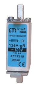 Предохранитель M00CUQ2/125A/690V gR (200 kA) , ETI, 4721215