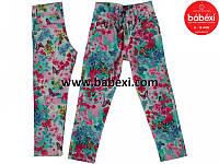 Брюки-джинсы Цветы для девочек 3,4,5,6,7 лет