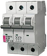 Авт. вимикач ETIMAT 6 3p B 25А (6 kA), ETI, 2115518