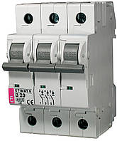 Авт. выключатель ETIMAT 6 3p B 20А (6 kA), ETI, 2115517