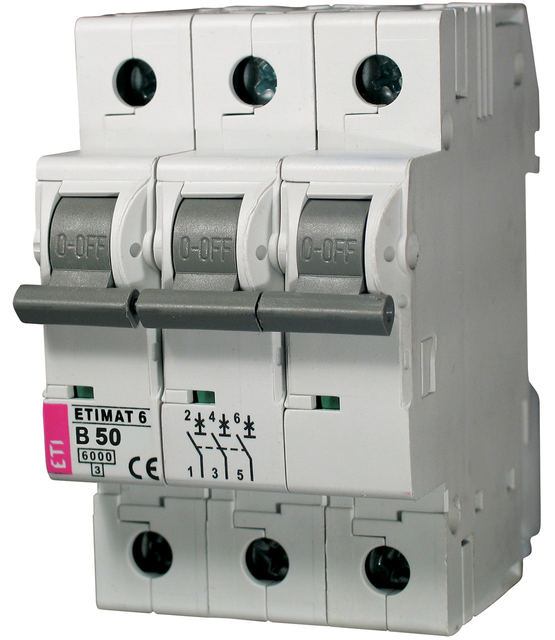 Авт. выключатель ETIMAT 6 3p B 50А (6 kA), ETI, 2115521