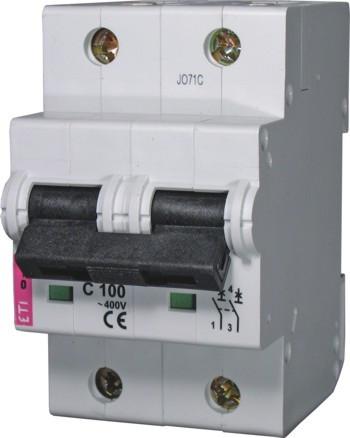 Авт. вимикач ETIMAT 10 2р C 100А (20 kA), ETI, 2133732