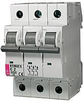 Авт. выключатель ETIMAT 6 3p C 2A (6kA), ETI, 2145508