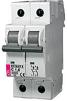 Авт. вимикач ETIMAT 6 2p C 1,6 A (6kA), ETI, 2143507
