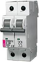 Авт. выключатель ETIMAT 6 2p C 20А (6 kA), ETI, 2143517