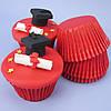 Капсула для кексов(красная) №20 (25 шт.)