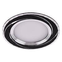 Врезная светодиодная панель Feron  AL777 5W  черный, серебро.