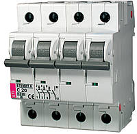 Авт. выключатель ETIMAT 6 3p+N C 20А (6 kA), ETI, 2146517