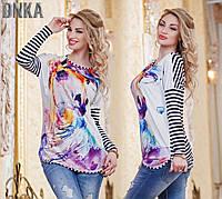 Женская блуза - туника с картинкой