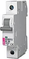 Авт. выключатель ETIMAT 6 1p D 25A (6kA), ETI, 2161518