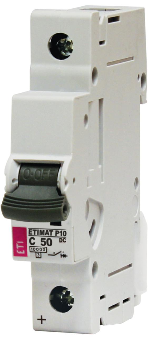 Авт. выключатель ETIMAT P10 DC 1p C 50A (10 kA), ETI, 265001107