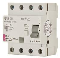 Реле дифференциальное (УЗО) EFI-4 80/0,1 тип AC (10kA), ETI, 2063145