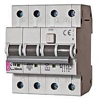 Диффер. автоматический выкл. KZS-4M 3p+N C 32/0,03 тип AC (6kA), ETI, 2174027
