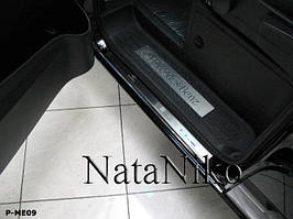 Накладки на пороги Premium Mercedes Vito II 2004-