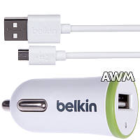 АЗУ USB Belkin ( 2 in 1 ) 2.1A Small micro белая