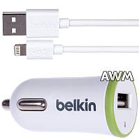 АЗУ USB Belkin ( 2 in 1 ) 2.1A Small для Apple lightning белая
