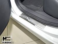 Накладки на пороги Premium MG 350 2012-
